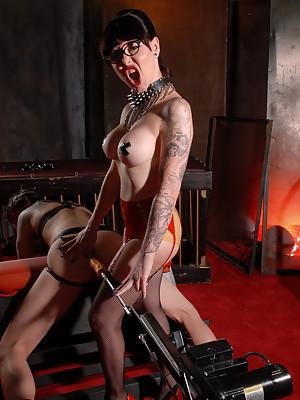 Mistress Danielle Foxx plays with a guy